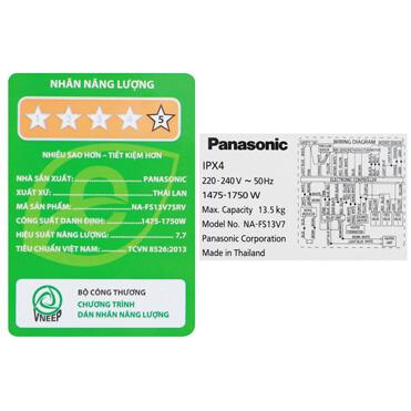 Máy Giặt Panasonic 13.5 Kg Na Fs13v7srv 11