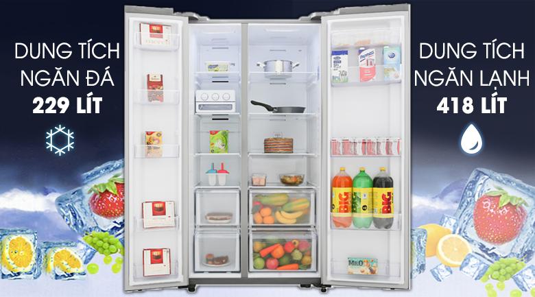 Tủ lạnh Samsung Inverter 647 lít RS62R5001M9/SV