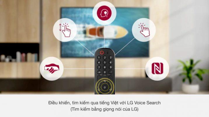 Smart Tivi LG 4K 65 inch 65UP7720PTC điều khiển